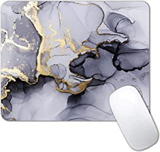 IMAYONDIA Gray Gold Black Marble Mouse Pad, Gaming Mouse Mat with Custom Design, Non-Slip Rubber Base Mousepad, Waterproof...