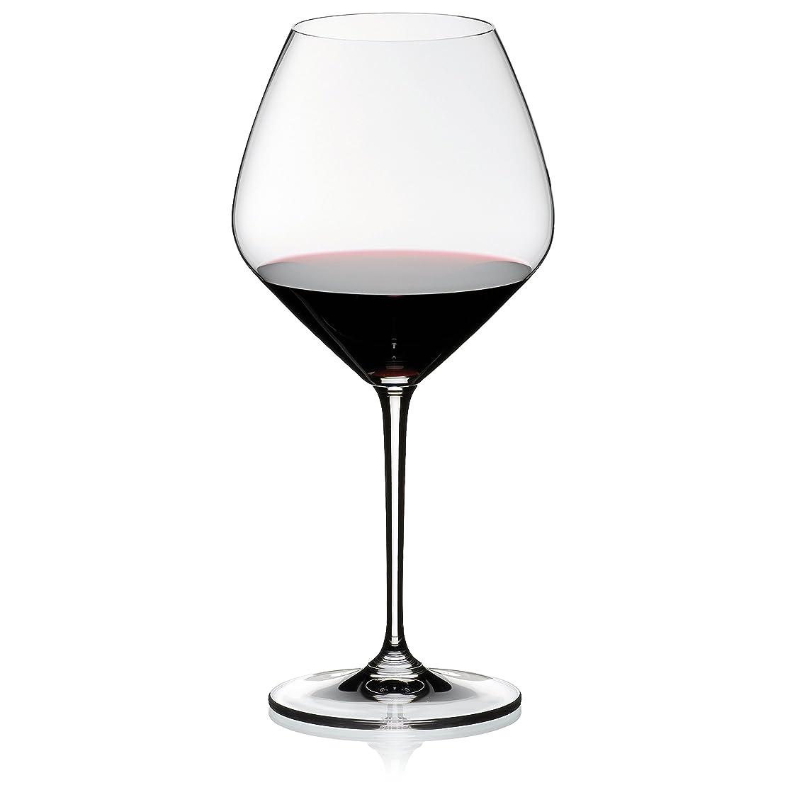傾斜プレート質量Riedel Vinum Extreme Pinot Noir、メガネのセット2 Set of 6 クリア 4444/07-CUST6