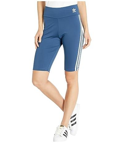 adidas Originals adiColor Biker Shorts (Night Marine/White) Women