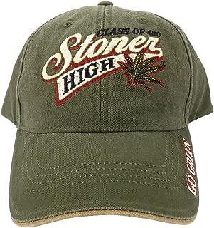 Class of 420 Stoner High Marijuana Leaf Baseball Cap Hat Weed MJ Ganja Earthy