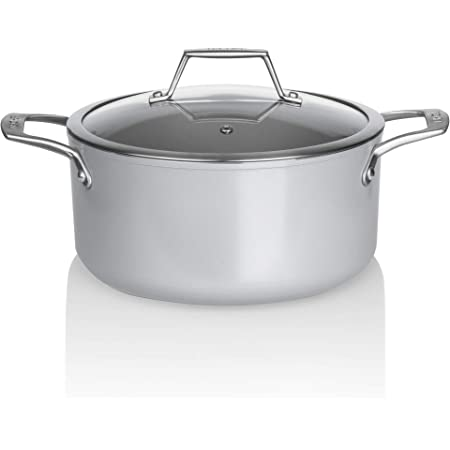 Techef Ceraterra Collection 5 Quart Ceramic Nonstick Soup Pot With Glass Lid Ptfe And Pfoa Free Ceramic Exterior Interior Made In Korea 5 Quart Kitchen Dining