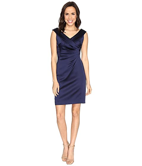 bfe0c670 Tahari by ASL Stretch Satin Sheath Dress with Side Ruche at 6pm