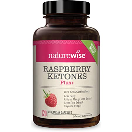 NatureWise Raspberry Ketones Plus | Advanced Weight Loss & Appetite Suppressant with Powerful Antioxidant Blend Boosts Energy & Metabolism | Vegan & Gluten-Free [2 Month Supply - 120 Veggie Capsules]