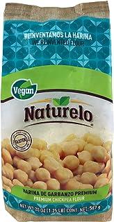 Naturelo Harina de Garbanzo Premium, Suave sabor del Garbanzo, 567 gramos