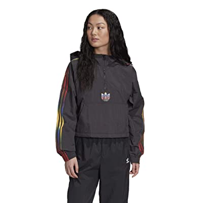 adidas Originals Olympics Cropped 1/2 Zip (Black) Women