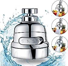 Faucet Head Sink Aerator,Kitchen High Pressure Faucet Sprayer Head Nozzle,Wodgreat Rotatable Copper Swivel Ball,3 Modes Wa...