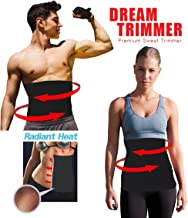 Waist Trimmer. Belly Fat Cellulite Burner with Silver Anti-Bacterial Coating, Body Shaper Exercise Belt, Sweat Sauna Abdominal Binder, Training Fitness Belt.