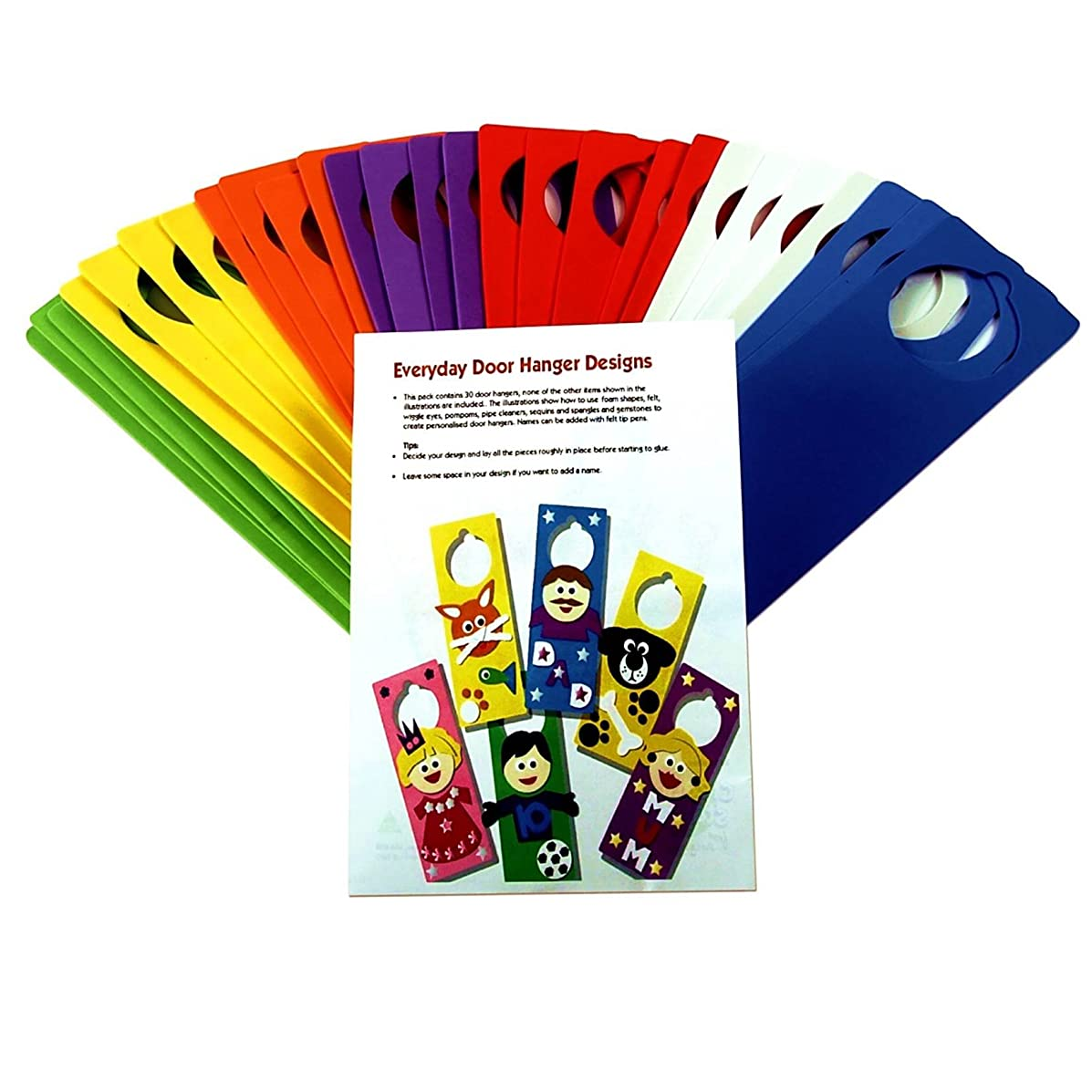 Creation Station Class Craft Foam Door Hangers with Ideas Leaflet, 6 Assorted Colours by Creation Station