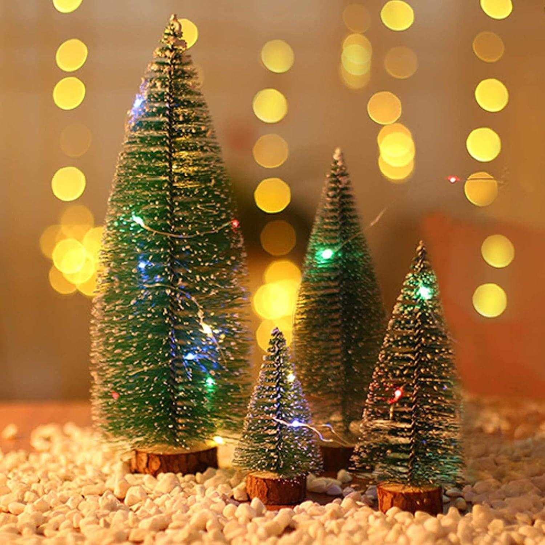 Mini-arbre,Arbre De No/ël Mignon,Artificiel Arbre de No/ël,Mini Sapin de No/ël,Miniature Decoration,9 pcs Miniature Decoration,Mini Arbre de No/ël,Sapin de Noel Miniature,Mini-sapin De No/ël En Sisal