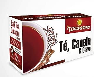 Wawasana Black Tea Cinnamon & Cloves. From Peru -20 tea bags per case -24 gr