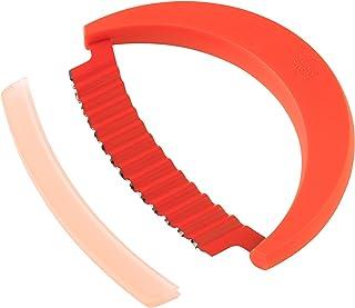 Kuhn Rikon Krinkle Knife, Stainless Steel, Red, 15 x 11.1 x 1.9 cm
