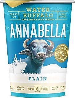 A2 Water Buffalo Yogurt (Plain) 6oz Cup - 12 Cups - A2/A2 Water Buffalo Milk, Non-GMO, Gluten Free, 100% Grass Fed, Higher...