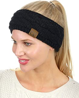 Soft Stretch Winter Warm Cable Knit Fuzzy Lined Ear Warmer Headband