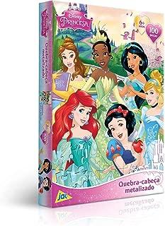 Quebra Cabeça 100 Peças Encapado - Princesa Metalizado Toyster Brinquedos