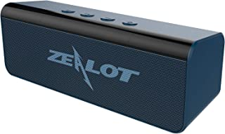 ZEALOT S31 Portable Bluetooth Speakers, Wireless Bluetooth Speaker with Loud Stereo Sound,Exceptional Bass Indoor/Outdoor 33 ft Bluetooth Range Built-in Mic,Perfect for Home, iPhone,Samsung(Blue-Gray)