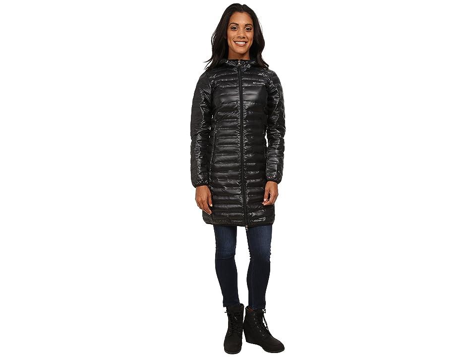 Columbia Flash Forwardtm Long Down Jacket (Black) Women
