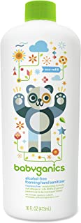 Babyganics Alcohol-Free Foaming Hand Sanitizer Bottle, Fragrance Free, 16oz Refill Bottle, Packaging May Vary