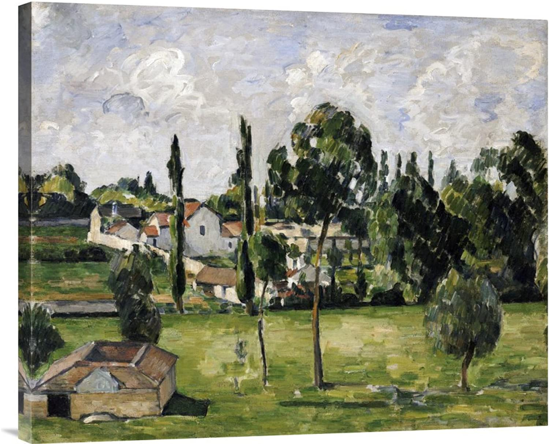 Global Galerie Budget gcs-264700–76,2–360,7 cm Paul Cezanne Paysage avec Conduite D 'Eau Galerie Wrap Giclée-Kunstdruck auf Leinwand Art Wand B01K1ONYHU   Deutschland München