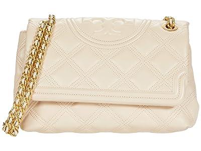Tory Burch Fleming Soft Convertible Shoulder Bag (New Cream) Handbags