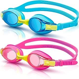 vetoky Kids Swim Goggles, Pack of 2 Anti Fog Swimming...