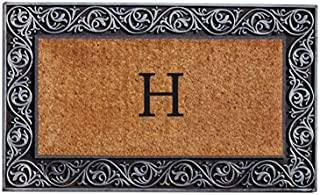 Home & More 10002SILVH Prestige Silver Monogram Doormat (Letter H)