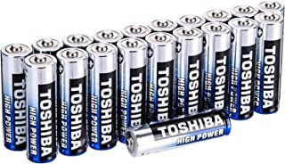 TOSHIBA Long-lasting Vibration resistance High Power Alkaline AA - 20 Battery Pack