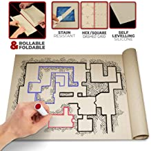 Battle Grid DND D & D Game Mat 36 X 24 - Foldable/Portable/Instantly Lays Flat - Dominate RPG Tabletop Gaming w/ 2 Sided Anti-Stain Square Hex Dry Erase Markers Role Playing Map Board - Warhammer 40k