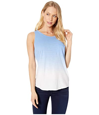 Miss Me Ombre Sleeveless with Lace-Up Back (Blue) Women