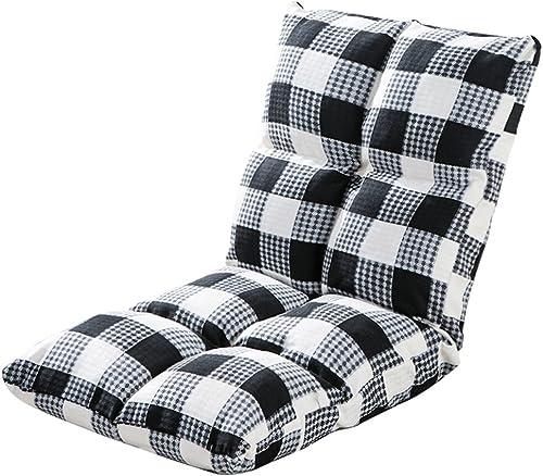 Sitzs e Ruhesessel-einzelner Faltbarer Rückenlehnen-Stuhl-Schlafsaal-Computer-Stuhl, 52  5cm (Farbe   Black Plaid)