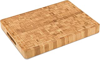 """Large End Grain Bamboo Cutting Board [15⅝x11⅞x1½""""] 