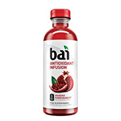 Bai Flavored Water, Ipanema Pomegranate, Antioxidant Infused Drinks, 18 Fluid Ounce Bottles, 12 Coun