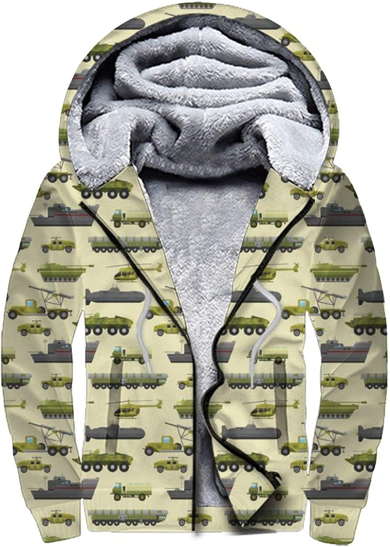 Men'S Fleece Sales Max 71% OFF for sale Hoodie Pullover Winter Full Zip Workout Jackets War
