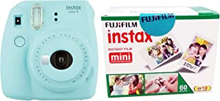 Fujifilm Instax Mini 9 Instant Camera (Ice Blue) with Film (60 Shots)
