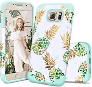 Samsung S6 Case,S6 Case,Casewind Samsung Galaxy S6 Case Pineapple Design Hard PC Soft Silicone Hybrid Protective Shockproo...