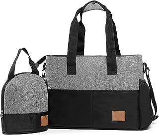 Breast Pump Bag, Diaper Bag Organizer with Insulated Breastmilk Cooler Bag