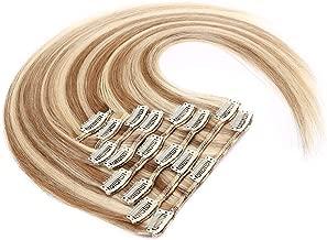 Amazon.es: extensiones de clip de pelo natural castaño con mechas ...