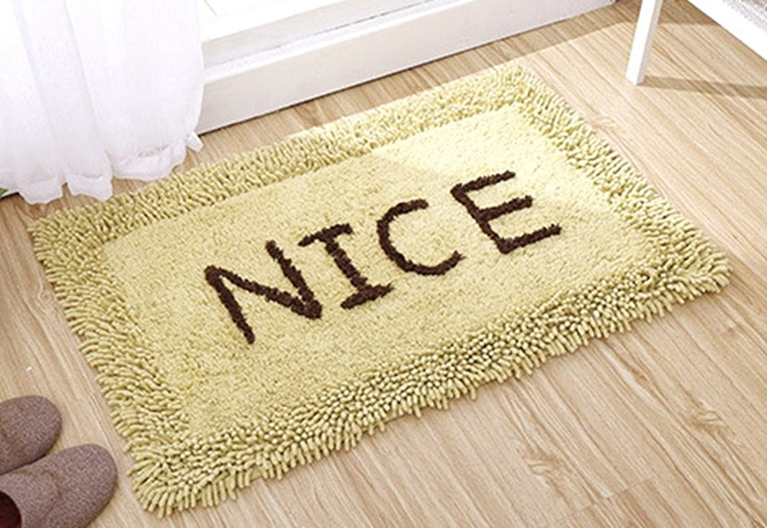 Multi-Size Terry Area Door Mat Floor Rug Runner Non-Slip LivebyCare Cotton Chenille Doormat Entry Carpet Decor Front Entrance Indoor Outdoor Mats for Rest Room Presence Chamber