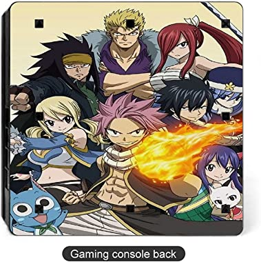 Fairy Tail Lovely Cartoon PS4 Slim Whole Body Vinyl Decal Anime Gaming Skin for Playstation 4 System Console and Controllers