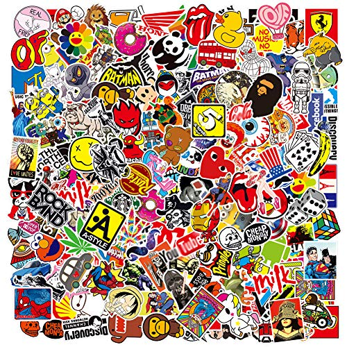 Cool Brand Stickers Pack,Laptop Stickers Bomb Vinyl Waterproof Stickers Variety Pack for Luggage Computer Skateboard Car Motorcycle Decal for Teens Adults (200 PCS)