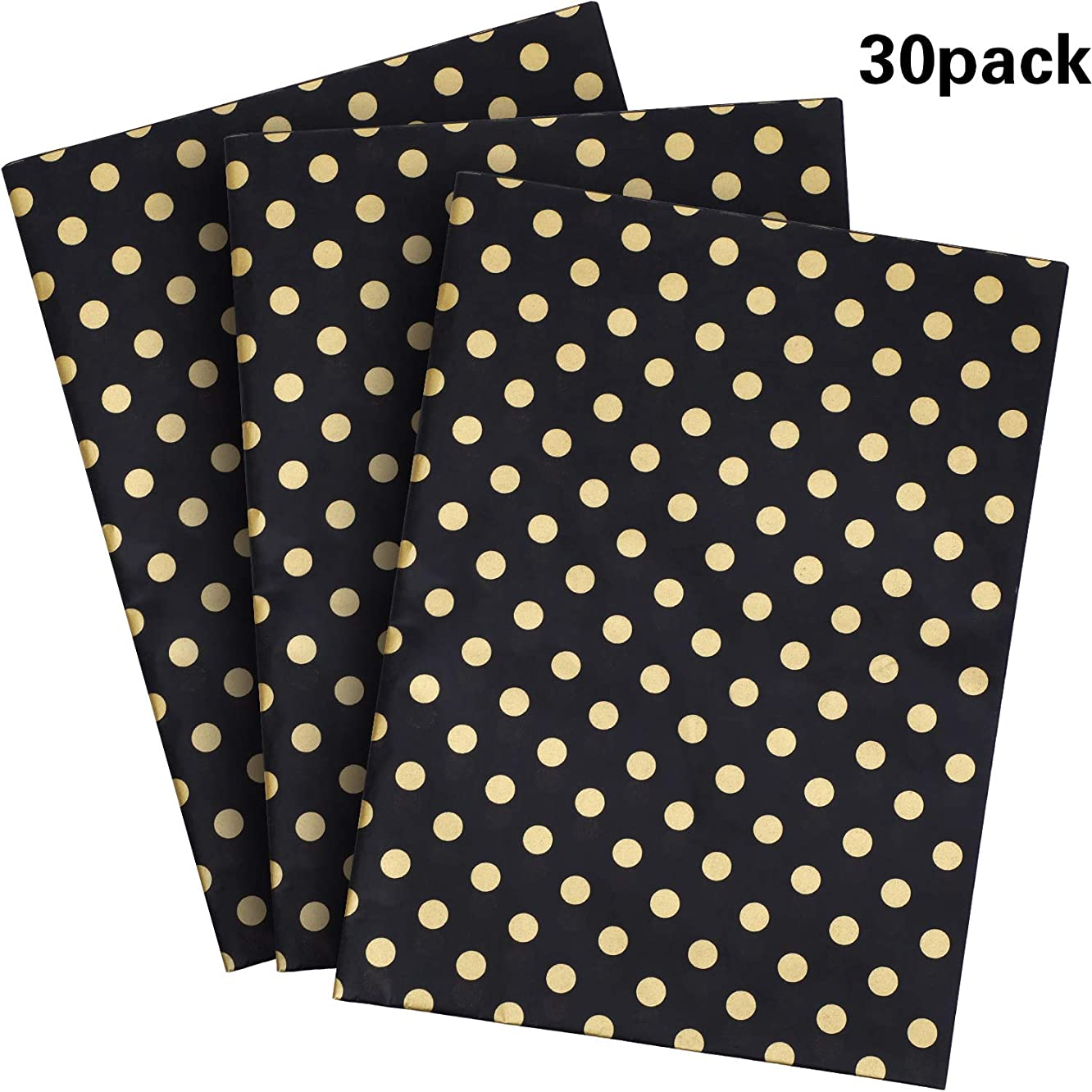 Shappy 30 Sheets Polka Dots Tissue Paper Dot Wrapping Paper for DIY Craft Wrapping Supplies (Color 2, 28 x 20 Inch) vzxqdswuy886169