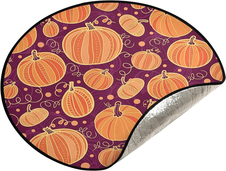JUMBEAR Thanksgiving Pumpkins Tree Stand Super special price Christma Mat Ranking TOP19 Waterproof