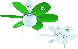 Bastilipo 7715-Real Ventilador de Techo con Palas Reversibles VERDIBLANCAS. Oficial Real Betis Balompié, Verde y Blanco