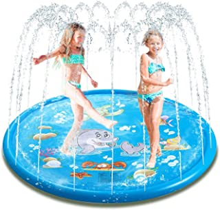 Children and Toddler Outdoor Water Jet pad Water Toys for 1 2 3 4 5 6 7 8 Year Old Boys and Girls Babies 170 cm Outdoor Sp...
