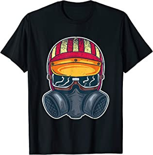 Drag Racing Mens Helmet Nos Racecar Nitro Hot Rod Car Tuning T-Shirt