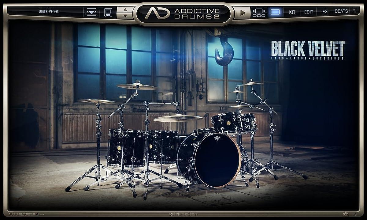 貫通繁雑ポンドXLN Audio Black Velvet Addictive Drums 2 専用拡張音源