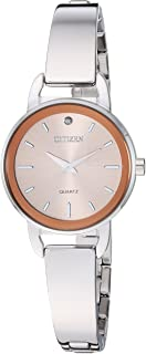 Citizen Women's Quartz Stainless-Steel Strap, Silver, 9.7 Casual Watch (Model: EZ6370-56X)