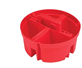 Bucket Boss Super Stacker Small Partys Tray in Red, 15054