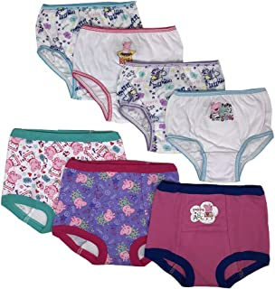 Peppa Pig Baby Girls' Toddler 3pk Training Pants & 4pk Panty