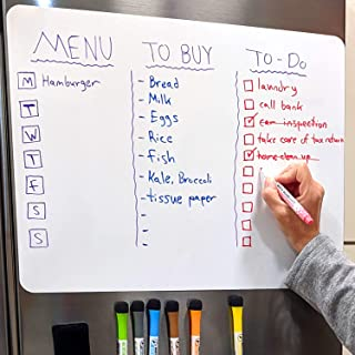 """$27 » Larger Dry-Erase Magnetic Whiteboard for Kitchen Fridge 