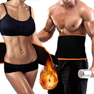 VESAUR Waist Trimmer Trainer Belt for Women Men Weight Loss, Breathable Allergy-Free Sport Sweat Workout Slimming Body Shaper Sauna Exercise, Stomach Fat Burner Low Back and Lumbar Support, XL